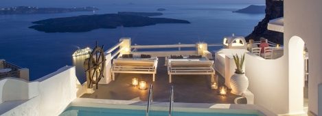 Photo credits: On the Rocks Hotel Santorini (member of HotelBrain and Small Luxury Hotels of the World